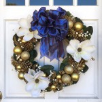 Magnolia and Pinecone Holiday Wreath