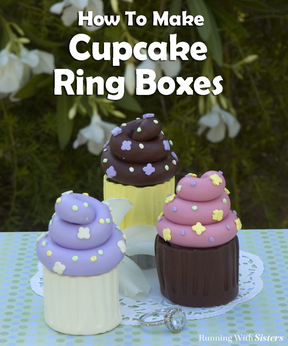 These Cupcake Ring Boxes are so sweet for Valentine's Day! They are made from polymer clay. We'll tell you step by step how to make them!