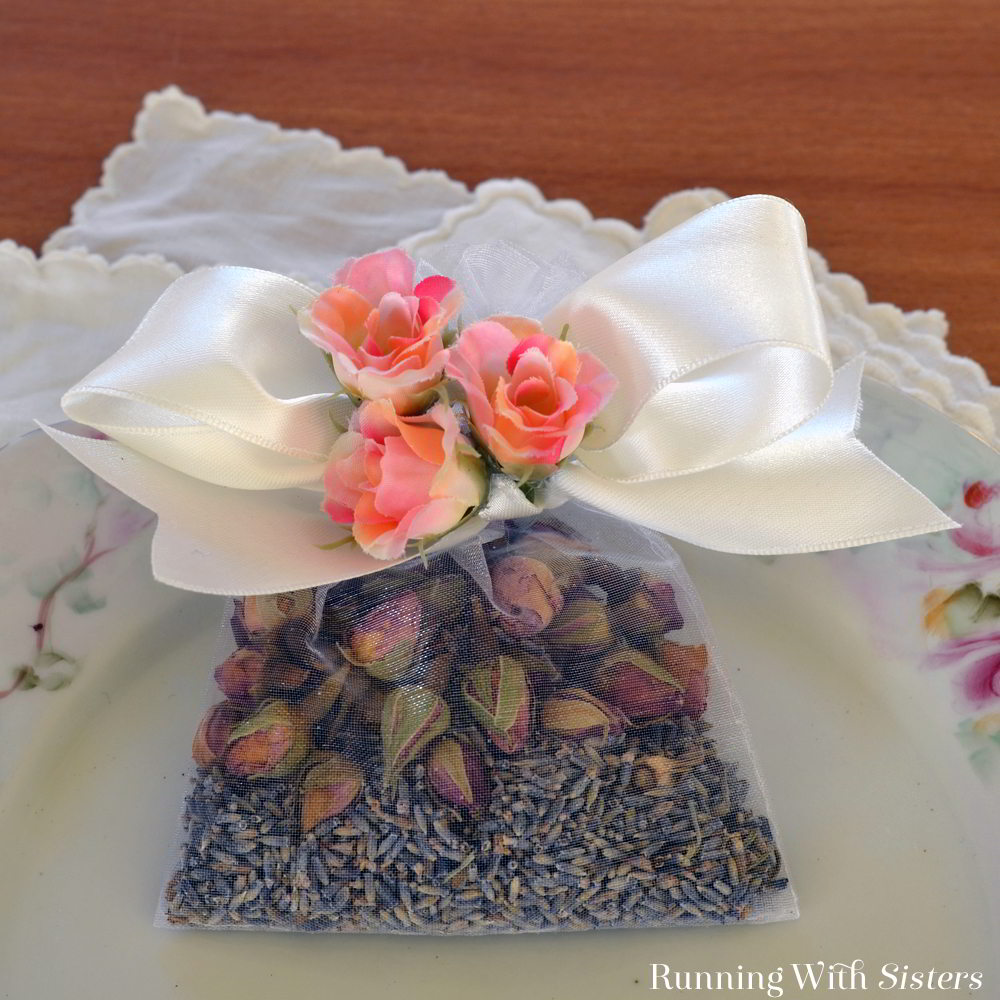 Easy Lavender Rose Sachet Running With Sisters