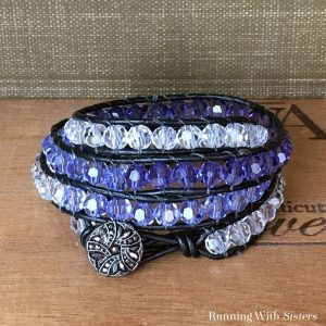 We love the beaded wrap bracelet trend! They have the casual feel of Boho-chic with the glam of real crystals. We'll show you how to make your own.