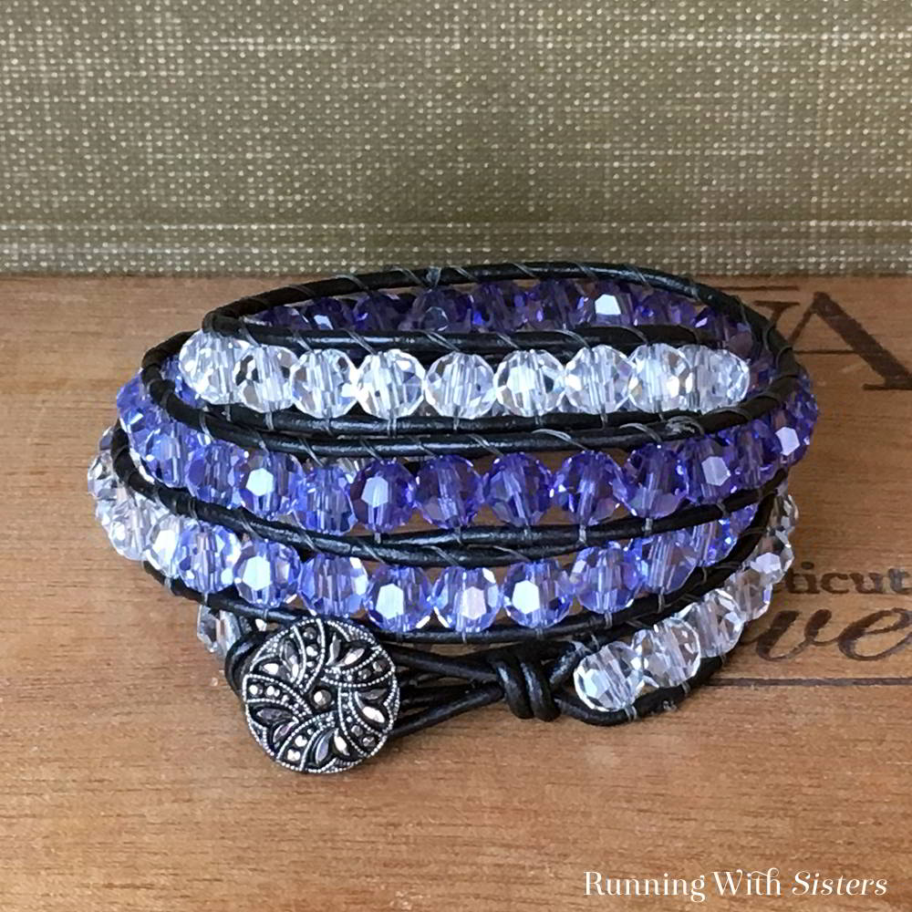 How To Make A Beaded Wrap Bracelet Running With Sisters