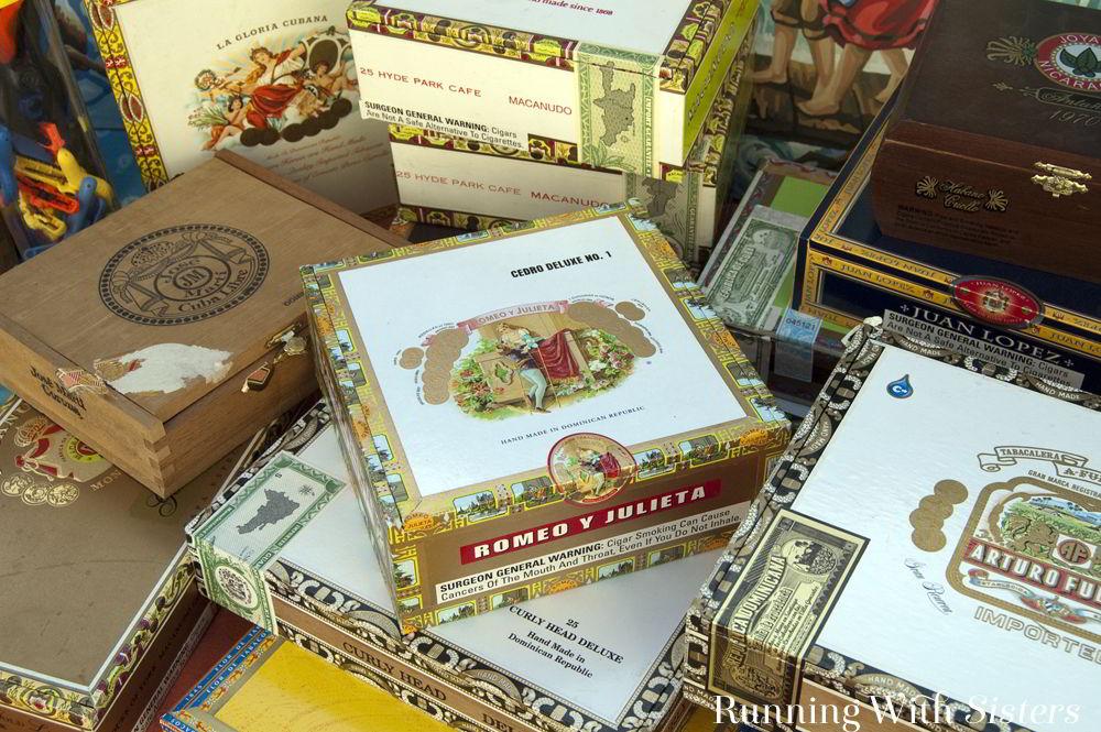 Make a Steampunk Cigar Box Clock using flea market finds and a clock kit.