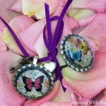 Kid Craft! Butterfly Bottle Cap Ring & Necklace