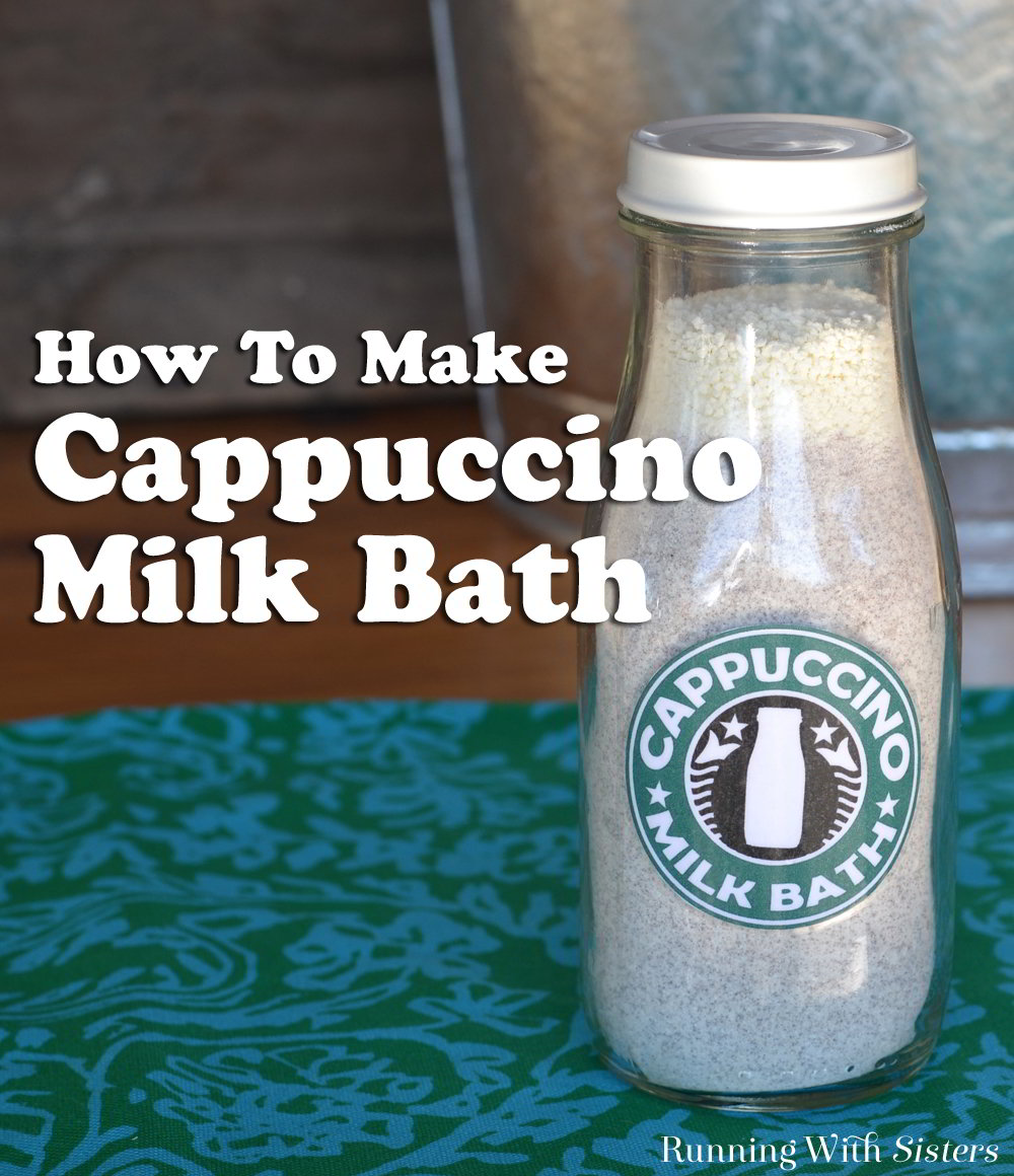 Make a DIY spa craft from instant coffee and powdered milk. We'll show you how to make Cappuccino Milk Bath in a milk bottle with a free label to print.