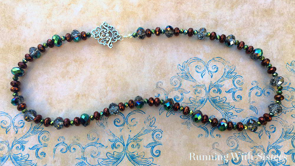 Get started making your own jewelry with this easy beaded necklace. We'll show you what to string the beads on and how to put on the clasp.