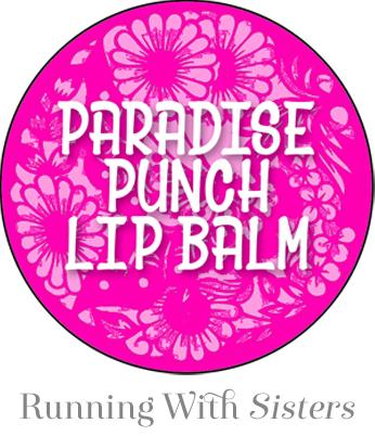 Paradise Punch Lip Balm Label