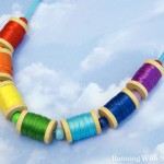 Kid Craft! Rainbow Spool Necklace