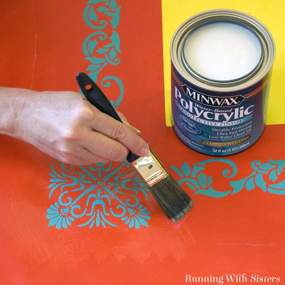 Make your own painted outdoor rug. We'll show you how to paint a piece of canvas with stencils and how to seal your floor cloth to make it weatherproof.
