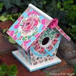 Easy Mosaic Birdhouse That Looks Like Broken China!