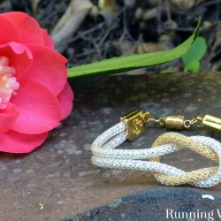 Make An Easy Silver Silk Knot Bracelet