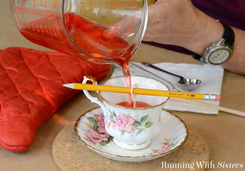 We'll show you how to make a vintage teacup candle from wicking the cup to melting the wax, and adding scent and color. Makes a great gift!