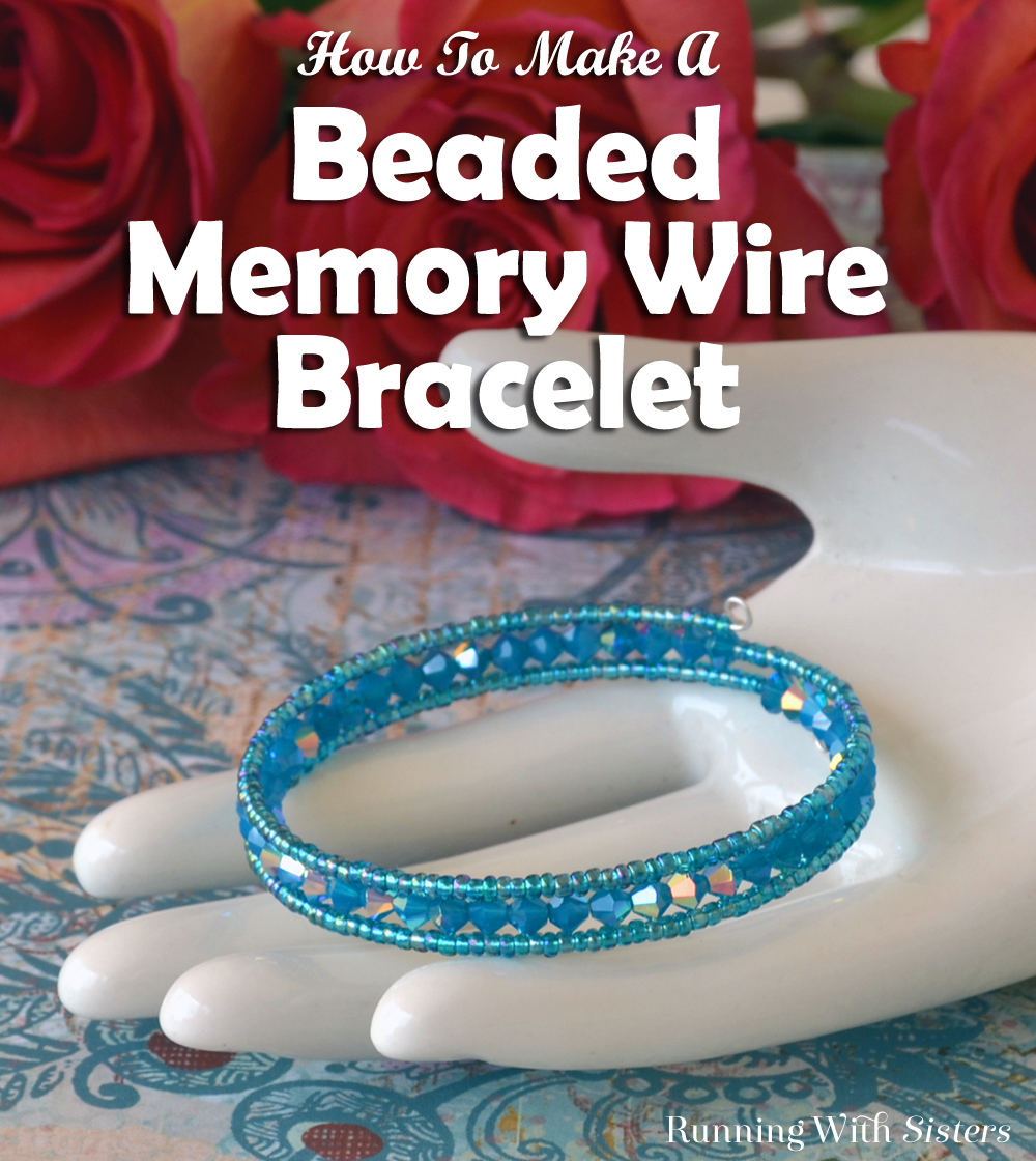 Make a memory wire bracelet with crystals and seed beads. We'll show you how with step-by-step photos and a how to video. Makes a great gift!