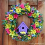 Summer Birdhouse Wreath