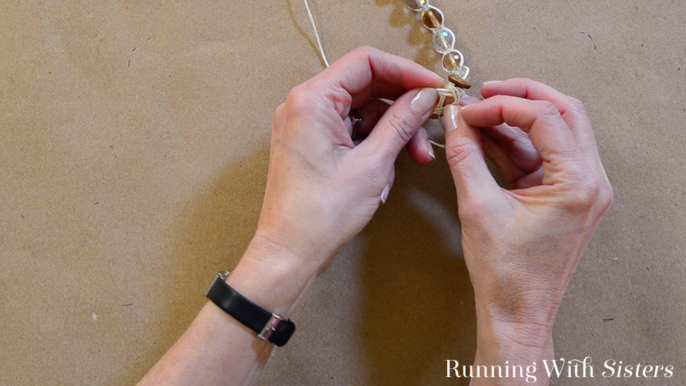 A shamabala bracelet is a macrame friendship bracelet with beads. We'll show you how to tie knots around crystals to make a glamorous shamballa bracelet!
