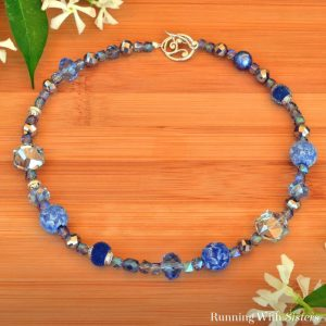 Beautiful Blue Beaded Necklace