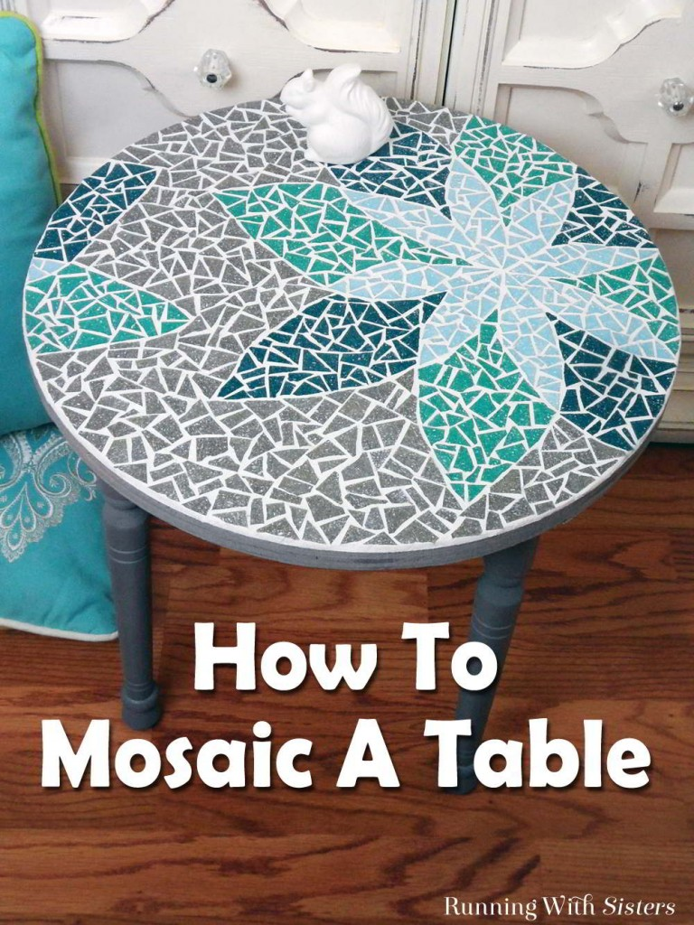 Learn how to mosaic a table including how to transfer a design, cut tiles, and mix and apply grout. This step by step tutorial will show you how!