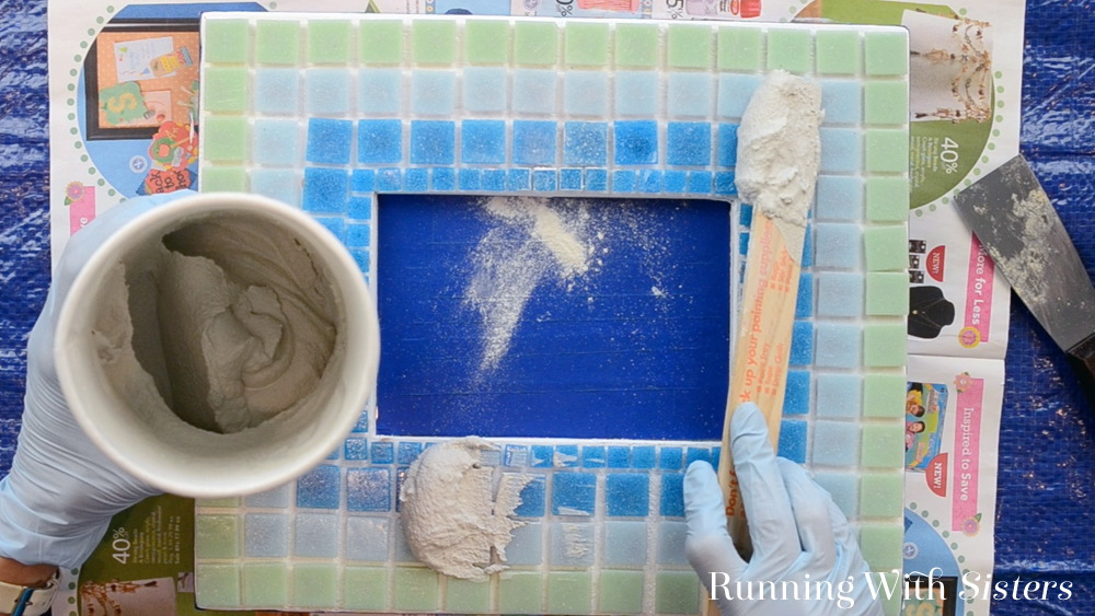 3 Mosaic Picture Frame - Mix and Apply Grout