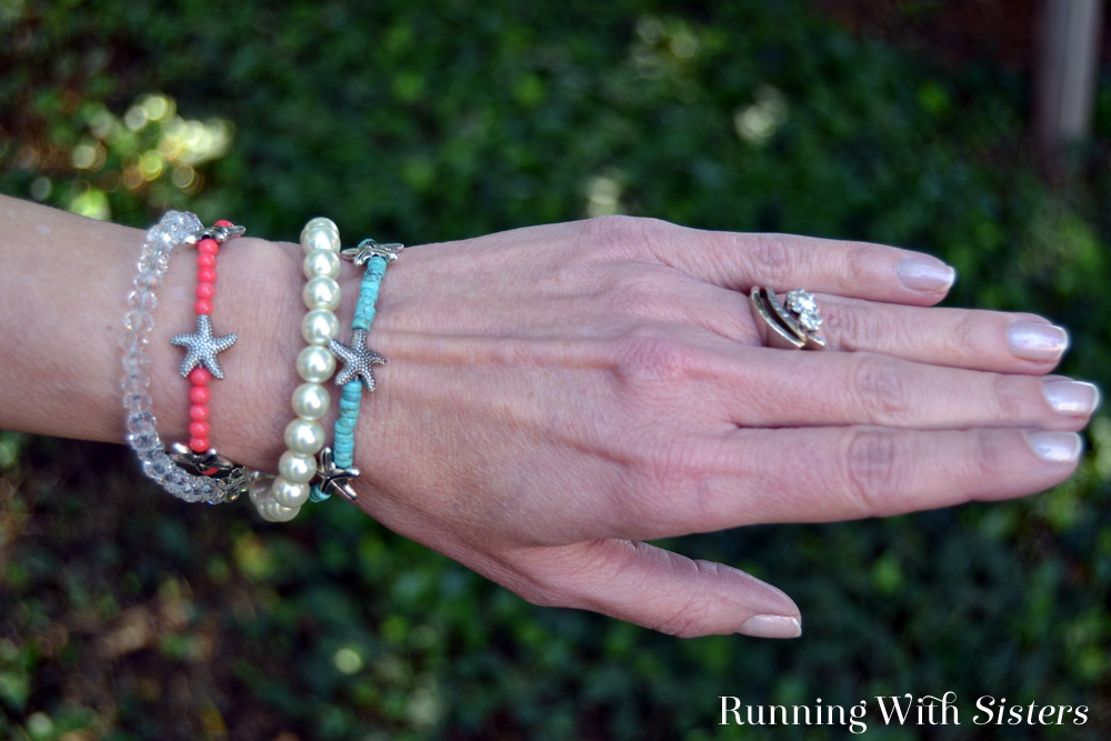 Beachy Wrap Bracelet On Arm J Running With Sisters