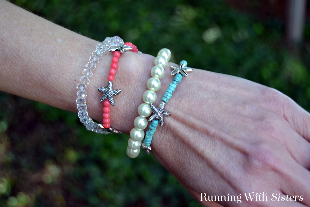 Make a beachy wrap bracelet! In this jewelry tutorial we'll show you how to make a long strand with bead stringing that looks like four bracelets in one!