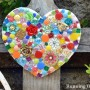 Bejeweled Mosaic Garden Heart