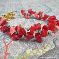 Coral Crisscross Bracelet copy
