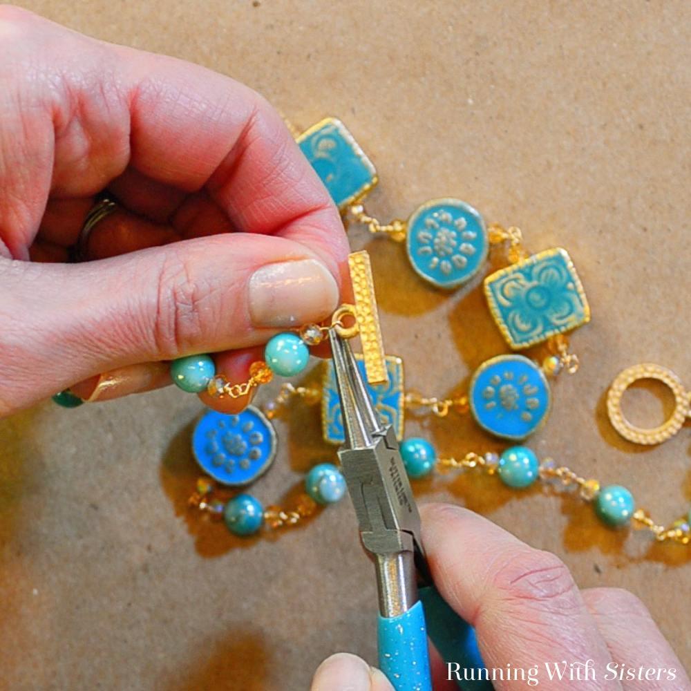 17B Wirework Necklace - Attach Clasp