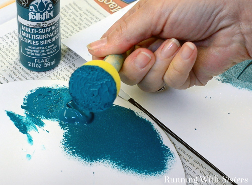 Learn the basics of how to stencil including what kind of paint brush to use, how to load the paint, and how to dab the paint into the stencil.