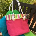 Beachy Canvas Tote Bag