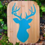 How To Stencil A Stag Plaque