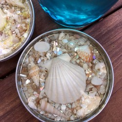 Make seashell coasters with resin. We'll show you how to turn jar lids into coasters with pretty shells. We even have a video showing how to mix the resin!