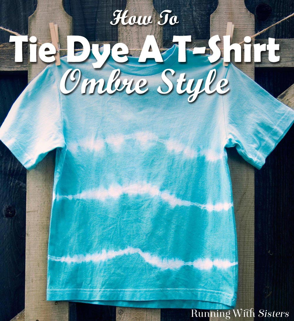 Learn how to tie-dye a t-shirt with ombre colors going from dark to light. We'll show you how to tie the t-shirt and how to dip it for a color merge effect!