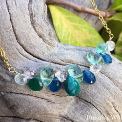 Make a glamorous gemstone briolette necklace