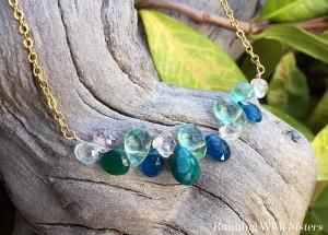 Make a glamorous gemstone briolette necklace