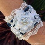 Lace And Denim Cuff Bracelet