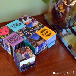 ModPodge vacation photos onto wooden cubes to make a 3D scrapbook for your coffee table! These ModPodge photo cubes are a great way to show off pictures!