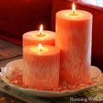 DIY Crystallized Pillar Candles