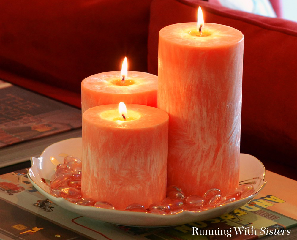 Make your own crystallized pillar candles! Great for DIY decorating. We'll share how to wick the mold, melt the wax, add color, and unmold your candles.
