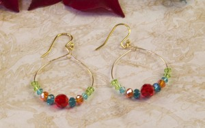 Dangling Crystal Hoop Earrings