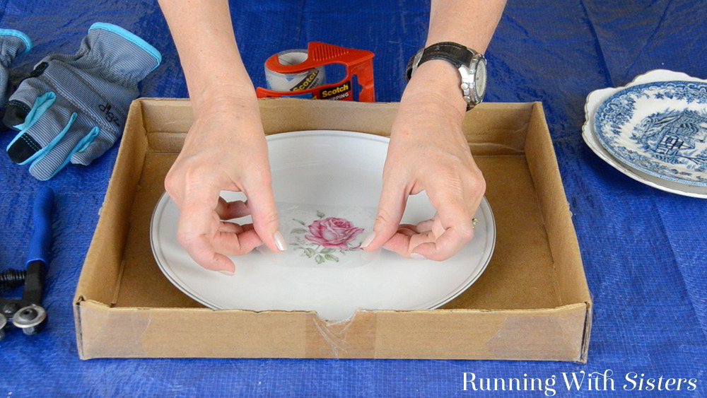 How To Cut China For Mosaics Running With Sisters