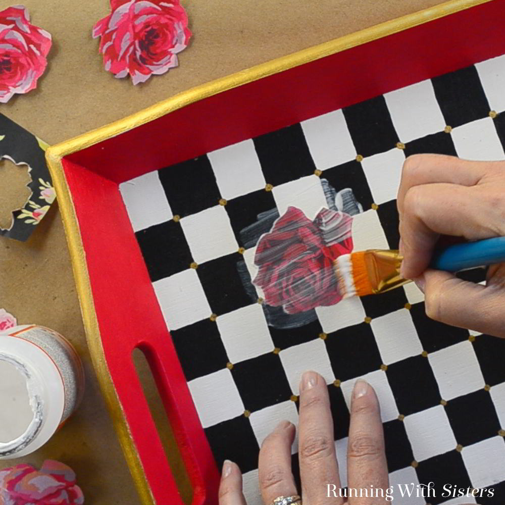 Learn to decoupage with Mod Podge. In this video and step by step tutorial we'll show you how to use Mod Podge decoupage medium to decorate a tray.