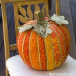 How To Make A Faux Quilted Pumpkin