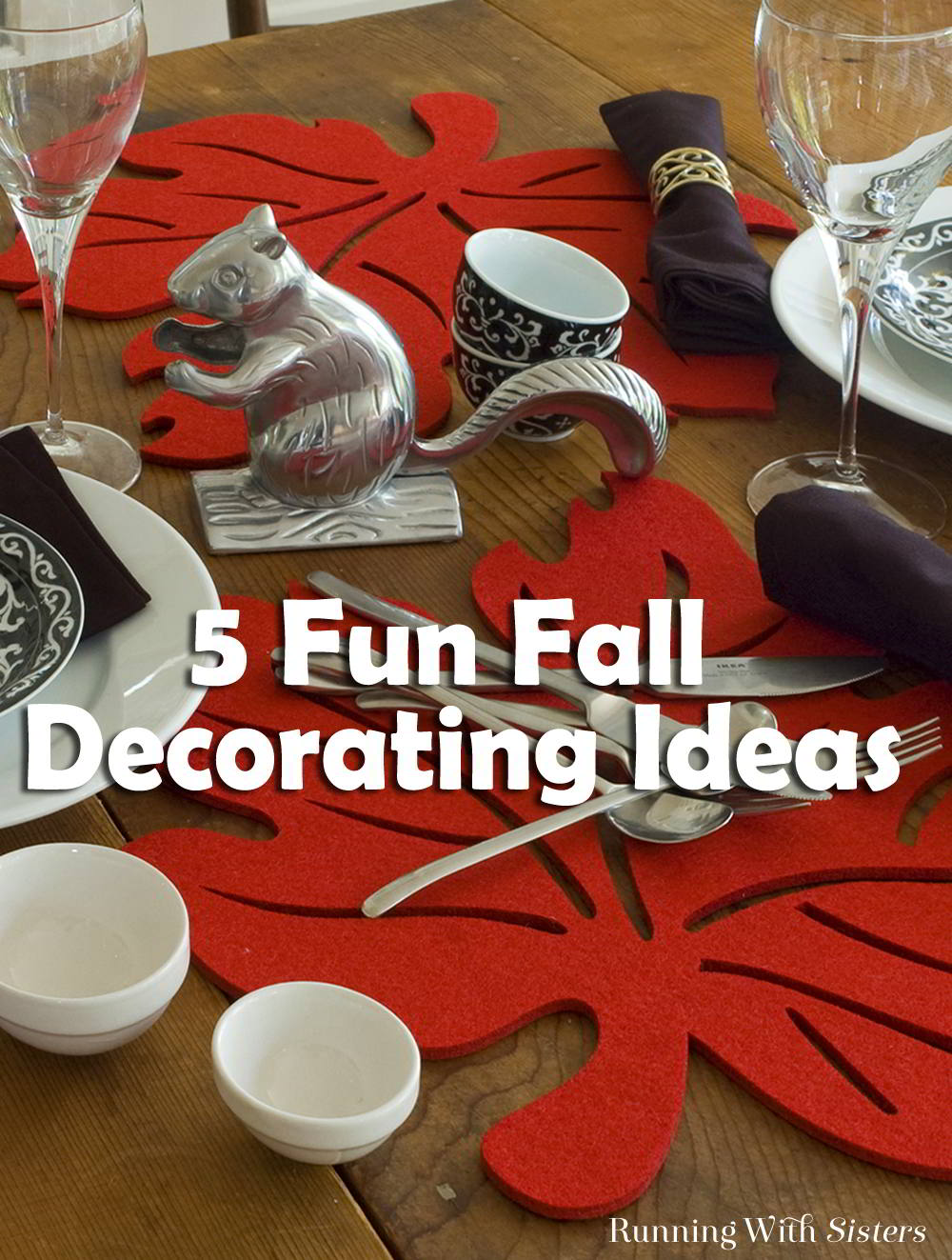 Get that fall feeling with five easy fall decorating ideas. These home accent swaps will have your home autumn ready in no time!