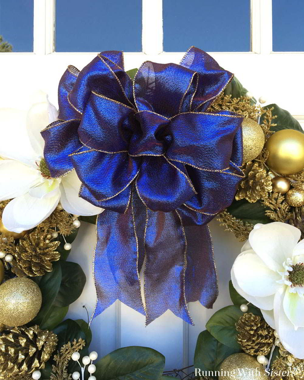 Learn to tie a big loopy bow. The perfect bow for a wreath, a big gift, or a wedding pew. We'll show you how with this video tutorial.