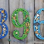 DIY Mosaic House Numbers With No Grout!