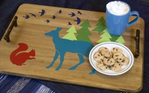 How To Stencil A Tray: Woodland Critters Tray