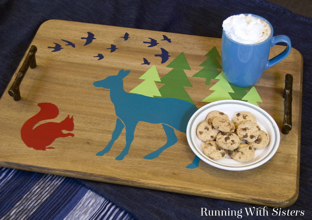 Learn to stencil a tray with cute woodland critters stencils. In the step-by-step tutorial you'll learn what you need to know to get started stenciling.