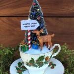 Teacup Christmas Scene