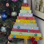 Vintage Yardstick Christmas Tree