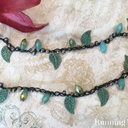 Crochet a Boho necklace by adding beads! We'll show you how to string the beads and how to use a crochet hook to bead crochet a necklace.