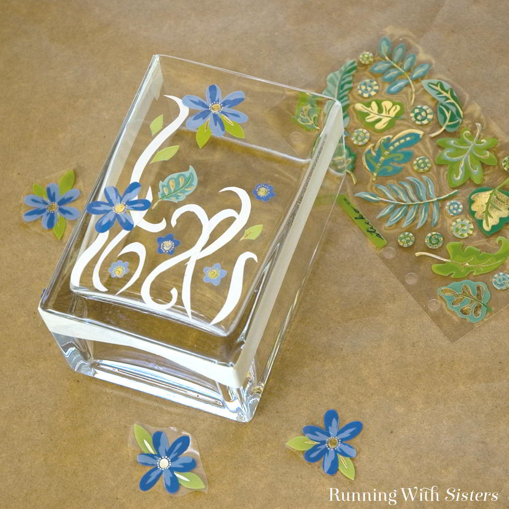 Learn how to etch glass with this easy etched vase! We'll show you how use real etch cream to etch a vase!